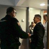 Marlaska visita polis ferits aldarulls - Ministeri Interior