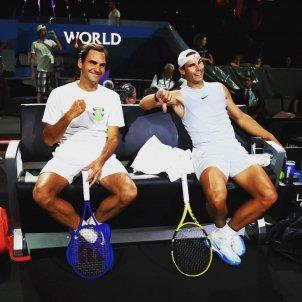 Roger Federer Rafa Nadal Laver cup @rogerfederer