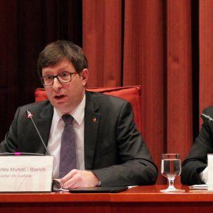 Carles Mundo a la comissió del Parlament