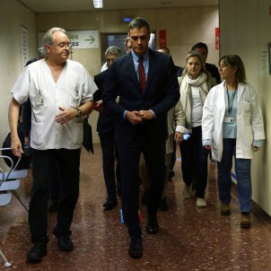Pedro Sánchez hospital Sant Pau - EFE