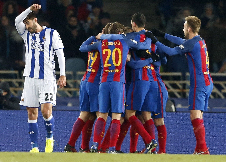 Barça gol Reial Societat Copa Rei EFE