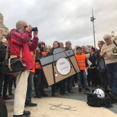 manifestacio periodistes agressions - carlota camps