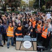 manifestacio mitjans premsa rebuig agressions - sergi alcazar