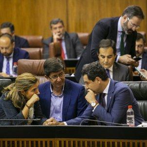 Rocío Blanco Juan Marín Juanma Moreno parlament andalusia - EuropaPress