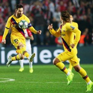 Messi Griezmann Barca Slavia Champions EFE