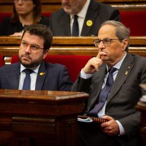 Pere Aragonès Quim Torra Parlament Europa Press