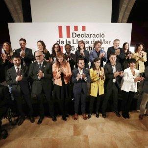 declaració llotja de mar   partits sobiranistes estatals   EFE