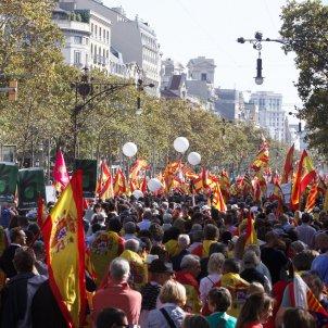 manifestacio espanyolista unionista ambient mireia comas