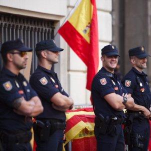 EL NACIONAL policia espanyola manifestació 27 O via laietana -Mireia Comas