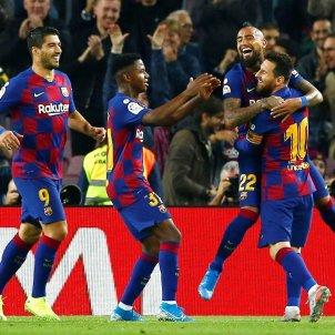 Messi Arturo Vidal Ansu Fati Luis Suarez Barca Valladolid EFE