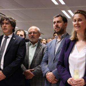 Carles Puigdemont, Lluñis Puig, Toni Comñin, Meritxell Serret ACN