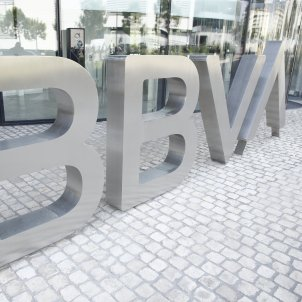 Logotip de BBVA a la seu de BBVA a Madrid. Foto: Europa Press