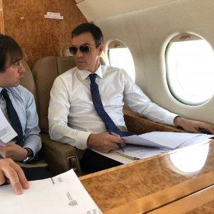 pedro sanchez avio falcon ALTA QUALITAT   @desdelamoncloa