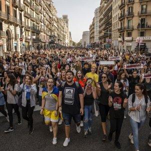 Tsunami Democratic estudiants univesitaris Manifestació - Sergi Alcàzar
