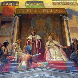 1280px 074 Generalitat, Saló de Sant Jordi, recepció dels Reis Catòlics a Colom Enfo Viquipèdia