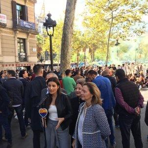 Lorena Roldán Carina mejías Sonia Sierra barcelona Cs protesta universitat Europa Press