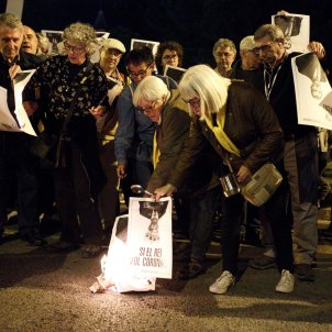 EL NACIONAL crema fotos rei manifestacio cdr palau congressos premis princesa girona  - Mireia Comas