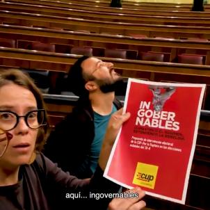 CUP video Congrés Diputats ingovernables eleccions 10 N