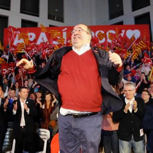 EL NACIONAL jaume collboni miquel iceta josep borrell tancament campanya psc 10-n - sergi alcazar