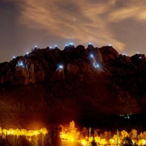gigafoto panoràmica llum i llibertat Montserrat Carles Domènech