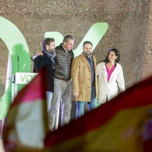 Vox acte campanya Madrid Santiago Abascal Ortega Smith Monasterios Espinosa de los Monteros Europa Press