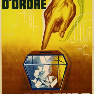 Cartell electoral del Front Català d'Ordre. Font Museu de Reus