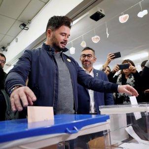 Gabriel Rufián votant eleccions 10N ERC EFE