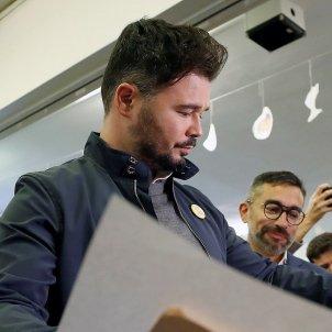 Gabriel Rufian vota 10 N Efe