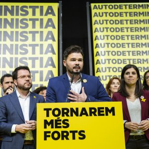 Nit electoral 10-N ERC Gabriel Rufian Pere Aragones Marta Vilalta - Sergi Alcàzar