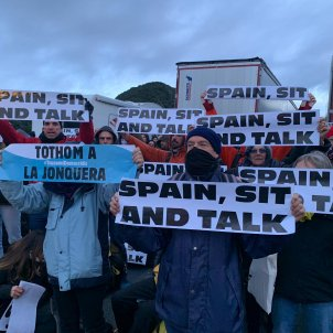 Manifestants tall tsunami frontera la jonquera - Mireia Comas