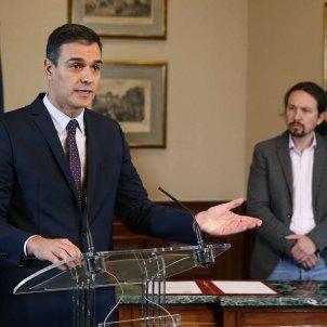 Pedro Sánchez Pablo Iglesias preacord coalició govern EFE