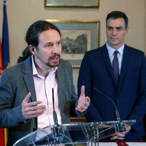 Pablo Iglesias Pedro Sánchez preacord govern EFE