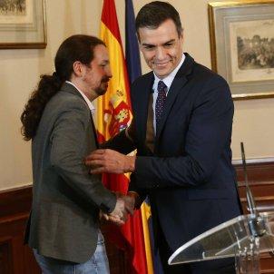 Pedro Sánchez Pablo Iglesias acord govern 2 EFE