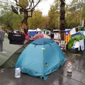 acampada plaça universitat aiguats Europa Press