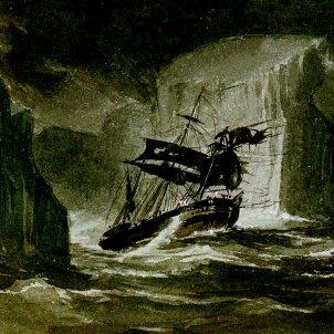 L'HMS Erebus travessa la cadena d'icebergs, per John Davis Atico de los Libros