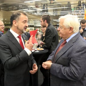 Alfred Bosch i expresident Eslovènia, Milan Kucan   ACN
