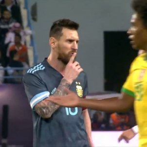 Messi calla silenci @globoesportecom