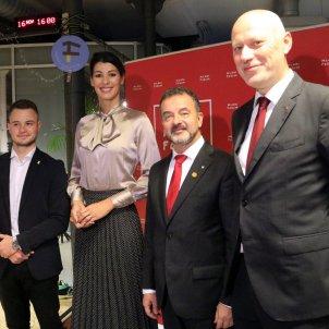 Alfred Bosch Dominika Svarc Milan Brglez Andrej Omerzel joventuts socialistes Eslovènia ACN