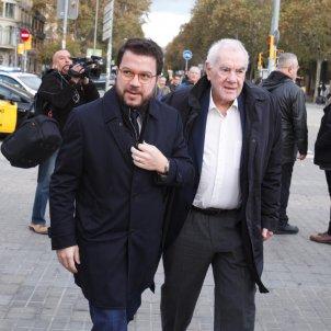 Pere Aragonès i Ernest Maragall judici torra llaços grocs   Mireia Comas
