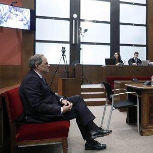President Quim Torra judici llaç groc TSJC  EFE