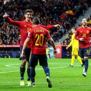 Cazorla Gerard Moreno Sergio Ramos Espanya Rumania Classificacio Eurocopa EFE