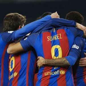 Celebracio gol Barça Reial Societat Copa Rei EFE