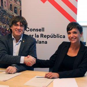 Júlia Taurinyà - Carles Puigdemont ACN