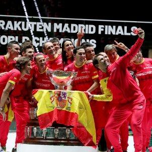 Selfie Copa Davis Espanya final Canda Campio EFE