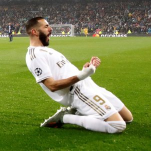 Benzema celebra gol Reial Madrid PSG Champions EFE
