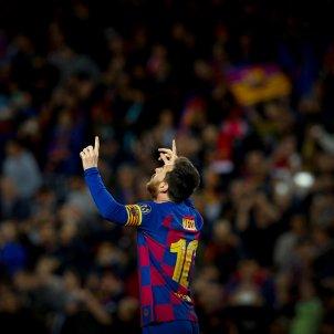 Leo Messi celebracio gol Barca Borussia Dortmund Champions EFE