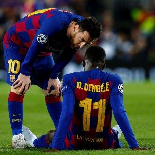 Dembele lesio Messi Barca Borussia Dortmund Champions EFE