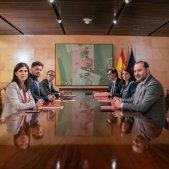 alta  Gabriel Rufián Marta Vilalta Josep Maria Jové Adriana Lastra José Luis Ábalos Salvador Illa reunio psoe erc - PSOE
