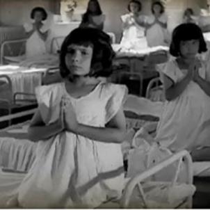 El regim franquista bateja per la força cent nens orfes de pares republicans. Imatge d'un orfenat del franquisme. Font CCMA