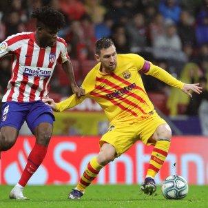 Leo Messi Thomas Atletic Madrid Barca senyera EFE